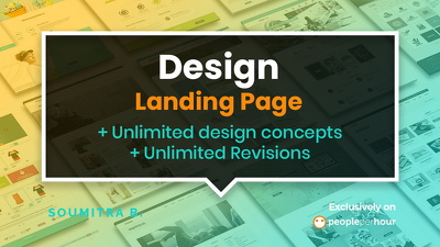 Design Landing page/ One Page (Design Only)