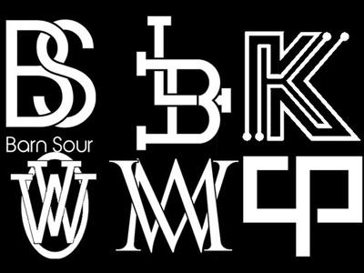 Design stylish monogram logo from your initials