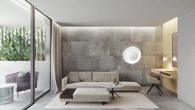 Interior 3D render image