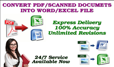 Manually type 15 pages of PDF to MS Word or MS Excel