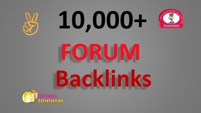 10,000 GSA SER Forum Backlinks for Google SEO to your website