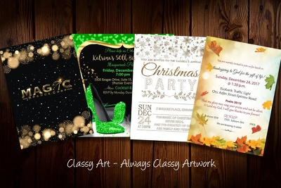 Design the PERFECT Party Invitation with UNLIMITED Revisions