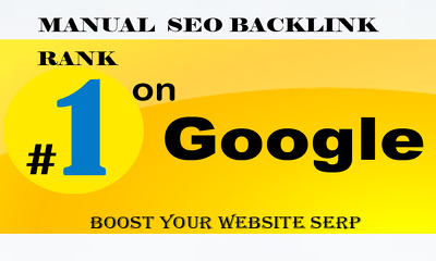 Rank First On Google With Manual Whitehat Ultimate SEO Strategy