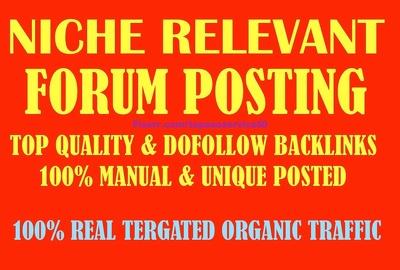 40 High DA Niche Relevant Forum Posting Backlinks