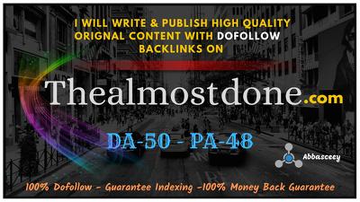 Guest Post on HQ DA37  THEALMOSTDONE . Thealmostdone.com