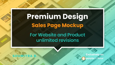 Design premium Sales Page  - For Your Website and Product