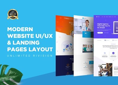 Create Eyecatching, Website UI/UX & PSD Web Landing Page design