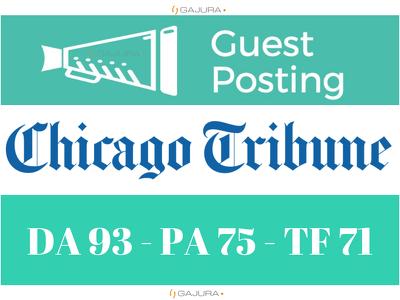 Guest Post on Chicago Tribune - ChicagoTribune.com DA 93