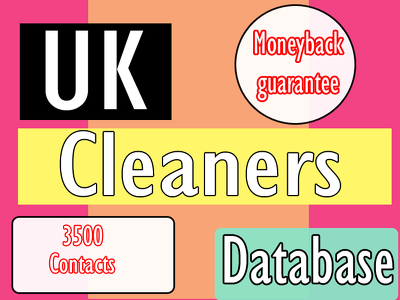 Deliver you 3500 uk cleaners contact instantly