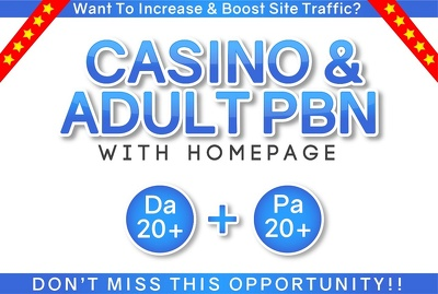Do Powerful Dofollow Casino Adult 10 PBN Backlinks
