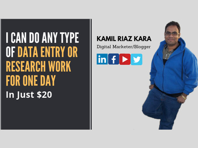 I Can Do Any Type Of Data Entry or Research Work For One Day