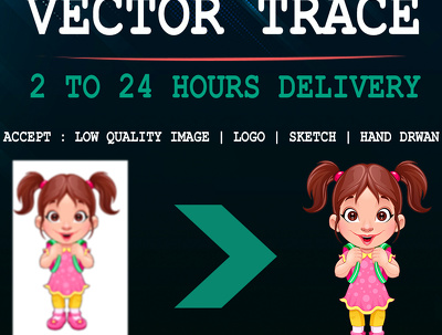 Vector Trace, Redraw , and portrait Your Logo, image within hour