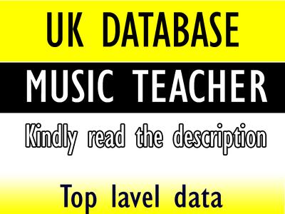 Give you 1900 uk music teachers lead