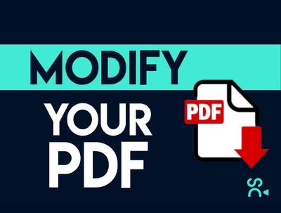 Modify your pdf