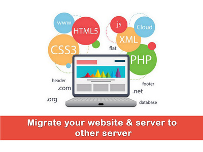 Migrate any website / Hosting / server to other server within 1