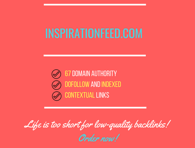 Publish a guest post on InspirationFeed.com - DA57, PA65