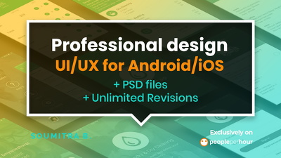 Design Professional UI/UX For Android/iOS Including PSD files
