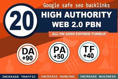 20 PBN high Da Pa Tf Cf on home pages of aged expired web 2.0s