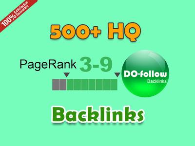 get 500 do follow PR 3-9 Backlinks