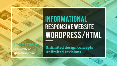 Create an Informational Responsive Website using WordPress/HTML