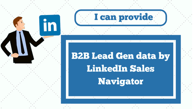 Collect 100 B2B Lead Gen data by LinkedIn Sales Navigator