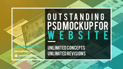 Design an outstanding PSD mockup for your website