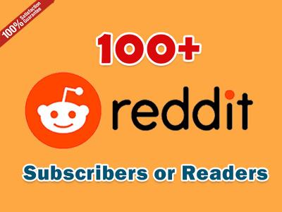 Get Instant 100+ Reddit SubReddit Subscribers or Readers