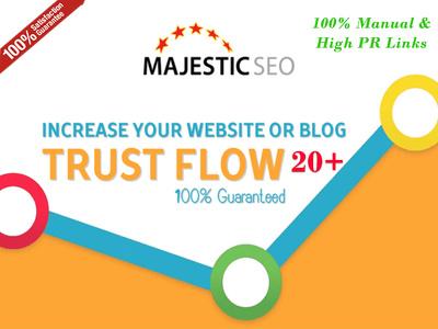 Increase your Website Trust Flow 20 plus
