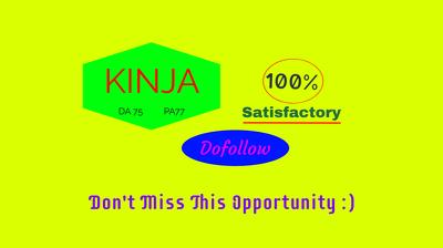 Publish a Dofollow Guest Post on Kinja