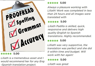 Proofread 1000 words from English - Spanish within 2 hours