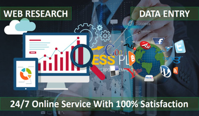 Do 1 Hour of  Data Entry / Web research / Web scraping