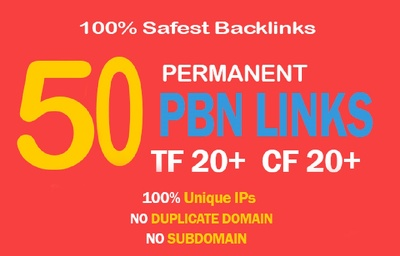 50 High TF CF DA PA 35+ Homepage PBN Backlinks