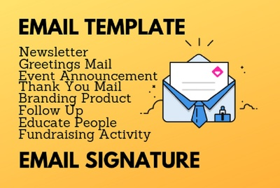Design responsive html email template and signature