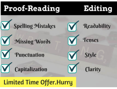 Proofread 1500 words for grammar,  punctuation and clarity
