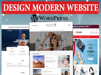 Design Modern Wordpress Website