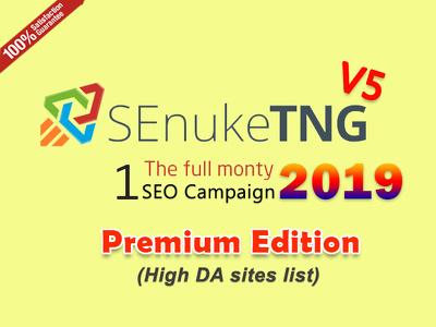 Run SEnuke TNG Full Monty SEO Campaign V5 2019