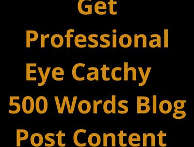 Write unique original professional SEO Blog Post of 500 words