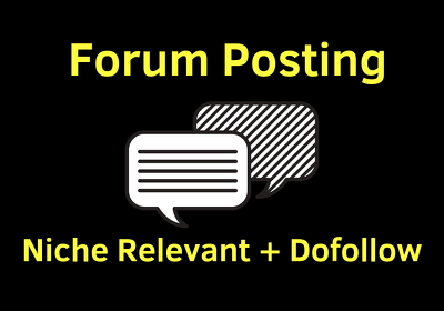 15 Niche Relevant Forum Posting With Do-follow Back-links