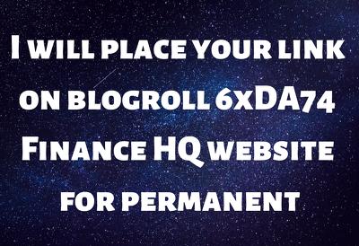 Give Link DA74x6 Finance Site Blog roll Permanent