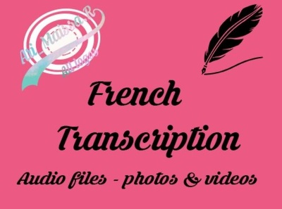 Transcribe your French audio recordings, photos and videos