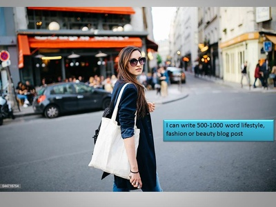 Write 500-1000 word lifestyle, fashion or beauty blog post