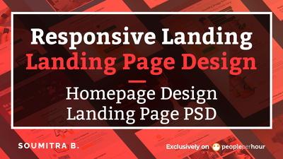 Design Landing Page/Homepage/Landing Page PSD/Responsive landing
