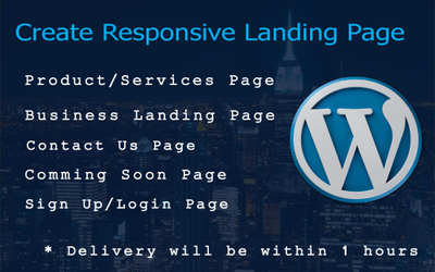 Design Landing Page, Squeeze Page, Facebook Landing Page