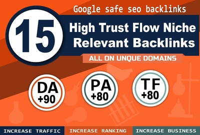 15 High Trust Flow Niche Relevant Backlinks