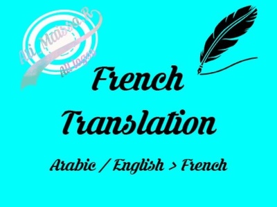 Assure the French translation of any type of document-1000 words