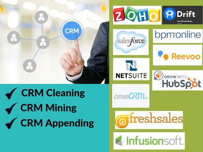 CRM cleaning services to companies using Zoho/Salesforce/Hubspot