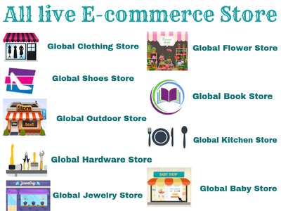 Provide List of all Live Global E-commerce websites.
