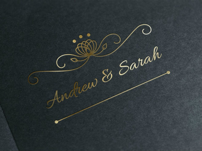 Design two wedding logos/badges + Free Revisions