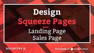 Design Squeeze pages, Landing page,sales page