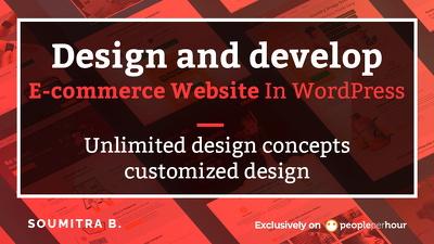 Design and develop e-commerce website in WordPress